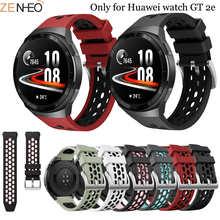 Ремешок силиконовый для смарт-часов Huawei Watch GT 2e, спортивный сменный Браслет для наручных часов, 22 мм