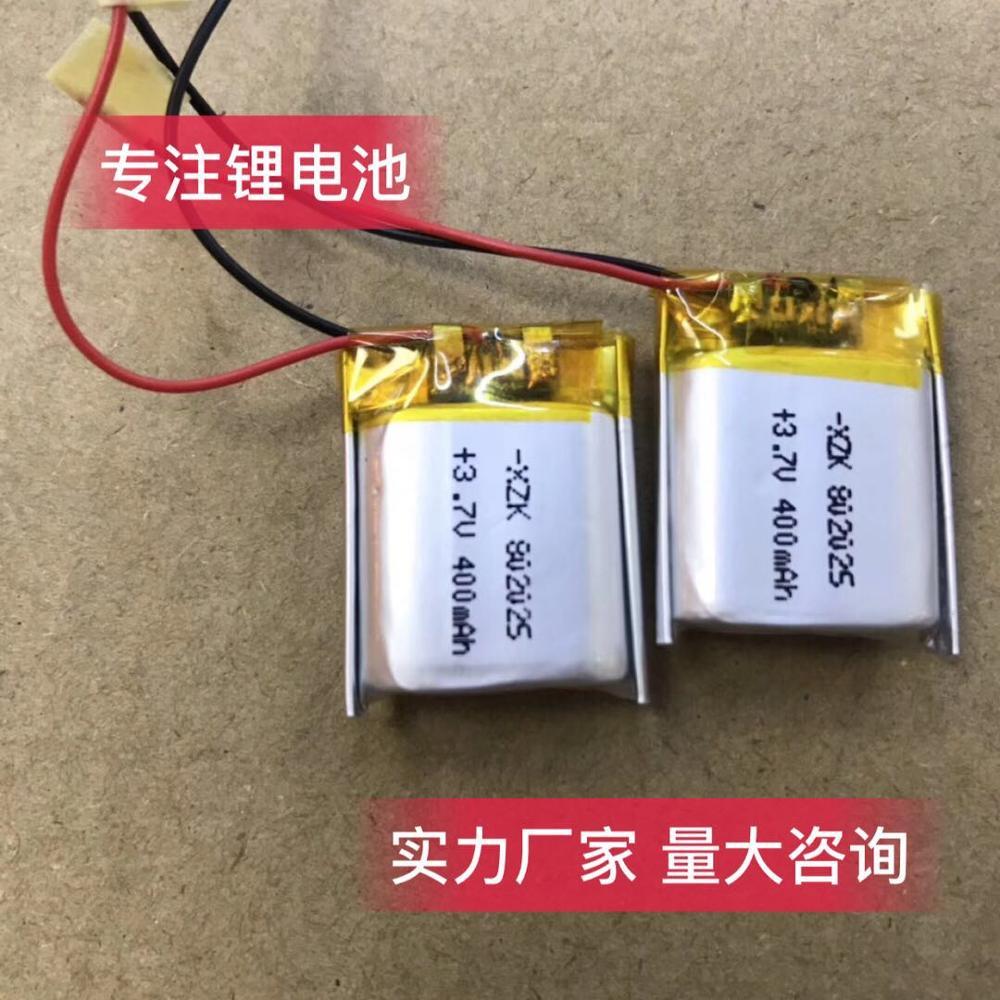 802025 3,7 v 160mAh 25mm * 20mm * 8mm tamaño recargable litio li-po li-polímero acumulador de batería de iones AKKU