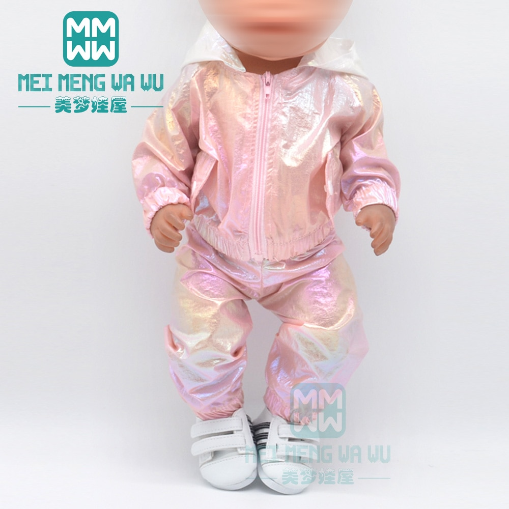 Baby clothes for doll fit 43 cm new born doll accessories jacket Sequin skirt casual outfit Christma