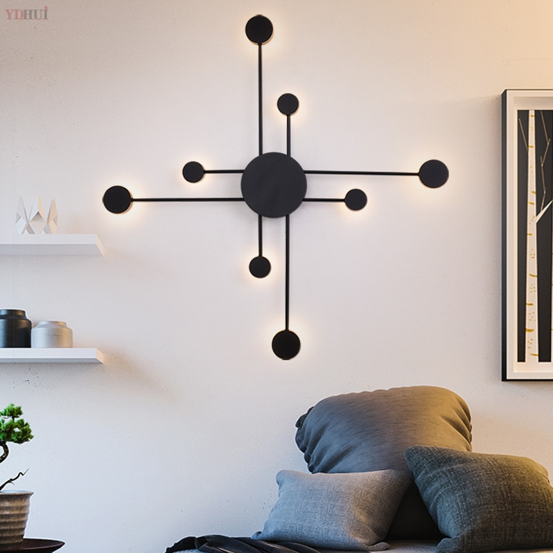 Lámpara Led de pared creativa y moderna, lámpara para escalera, lámpara de mesita de noche, lámpara para Hotel y restaurante, Luminaria decorativa para el hogar