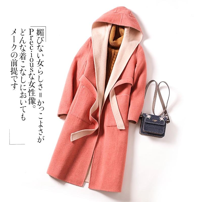 Chaqueta de lana con capucha Para Mujer, Abrigos y chaquetas coreanos de...
