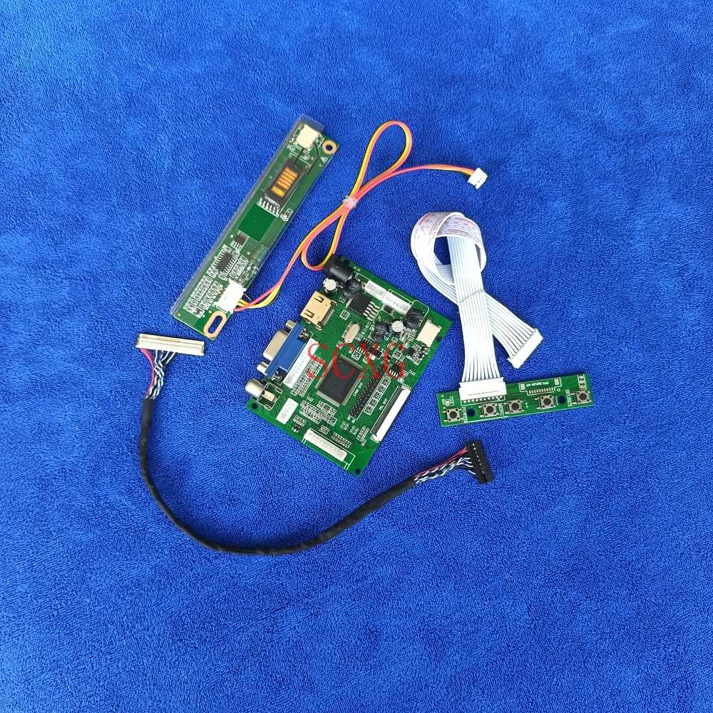 VGA AV HDMI-متوافق 1CCFL عدة LVDS 30 دبوس مصفوفة وحدة تحكم بشاشة إل سي دي محرك المجلس صالح CLAA141WB02/CLAA141WB03/CLAA141WB05 1280*800