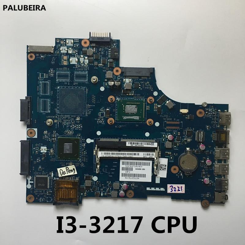 PALUBEIRA CN-0HDY2Y 0HDY2Y HDY2Y VAW00 LA-9104P w I3-3217U CPU para Dell Inspiron 3521 1 5521 placa base portátil a prueba