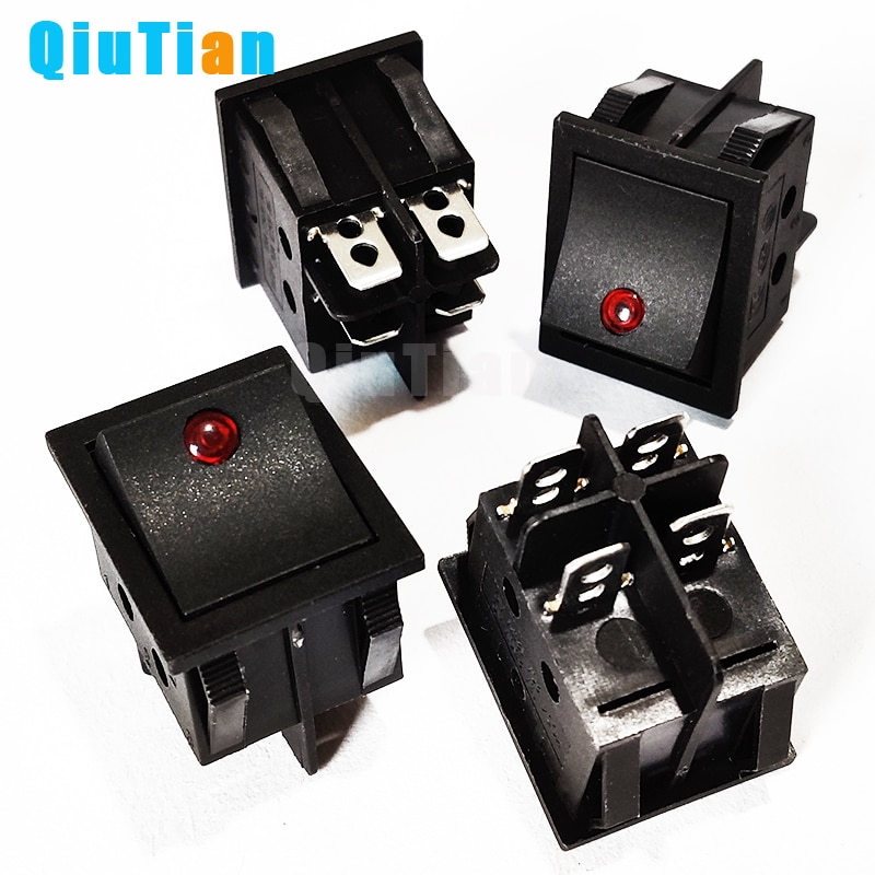 KCD4 Rocker Switch Power Switch ON-OFF 2 Position 4P Electrical equipment With Light Switch 16A 250V