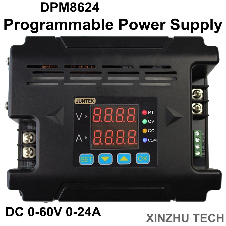 JUNTEK DPM8624 0-60V Digital Power Supply Constant Voltage current DC- DC Step-down communication Power Supply buck Voltage conv