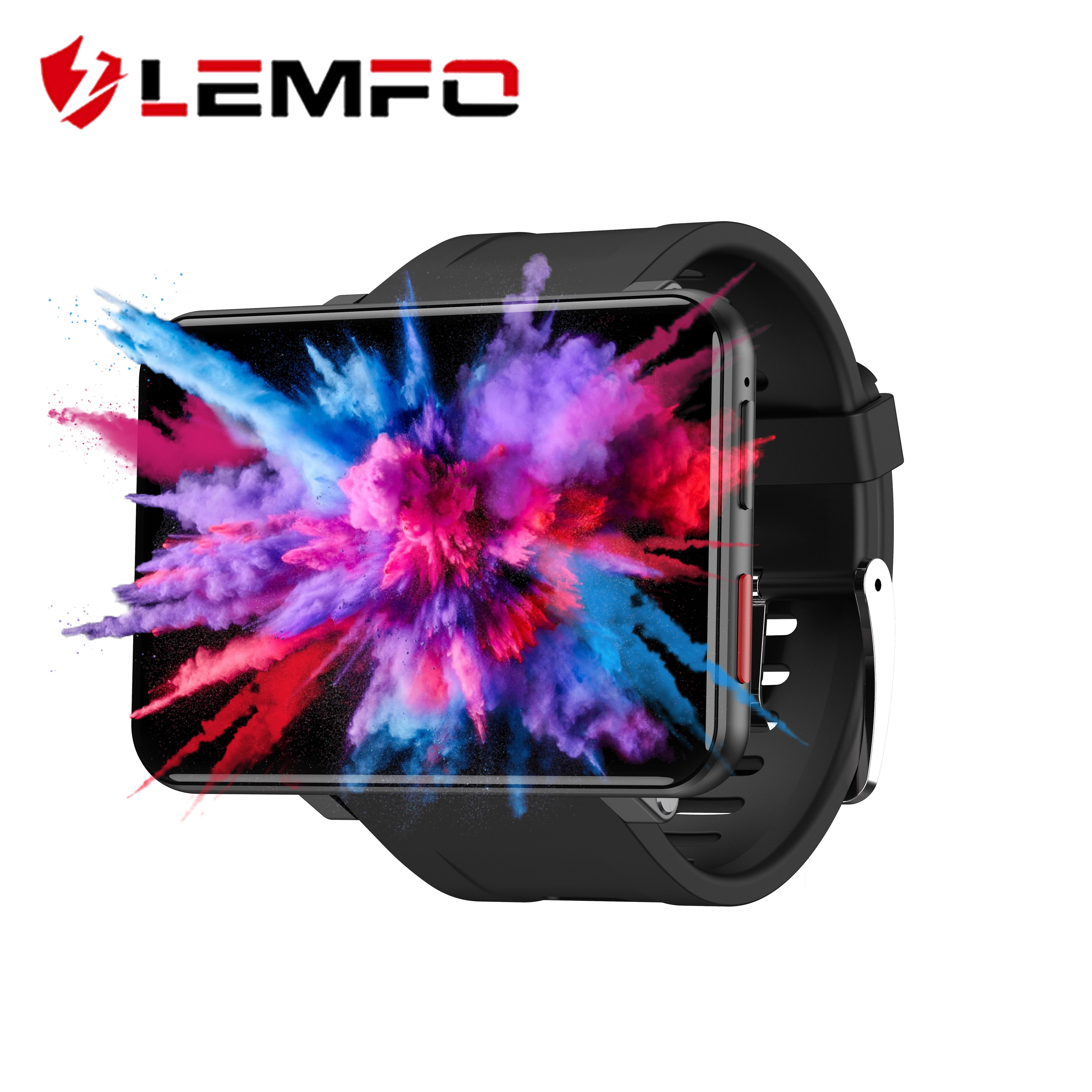 Get LEMFO LEMT 4G Smart Watch 2.86 inch Big Screen Android 7.1 3G RAM 32G ROM LTE 4G Sim Camera GPS WIFI Heart Rate 2700mAH Battery