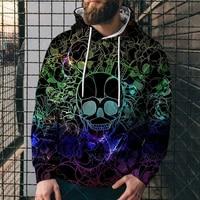 hoodies men skull pattern 3d printing sweatshirts 2021 fashion round neck oversized hoodie men harajuku casual mens sweatshirt