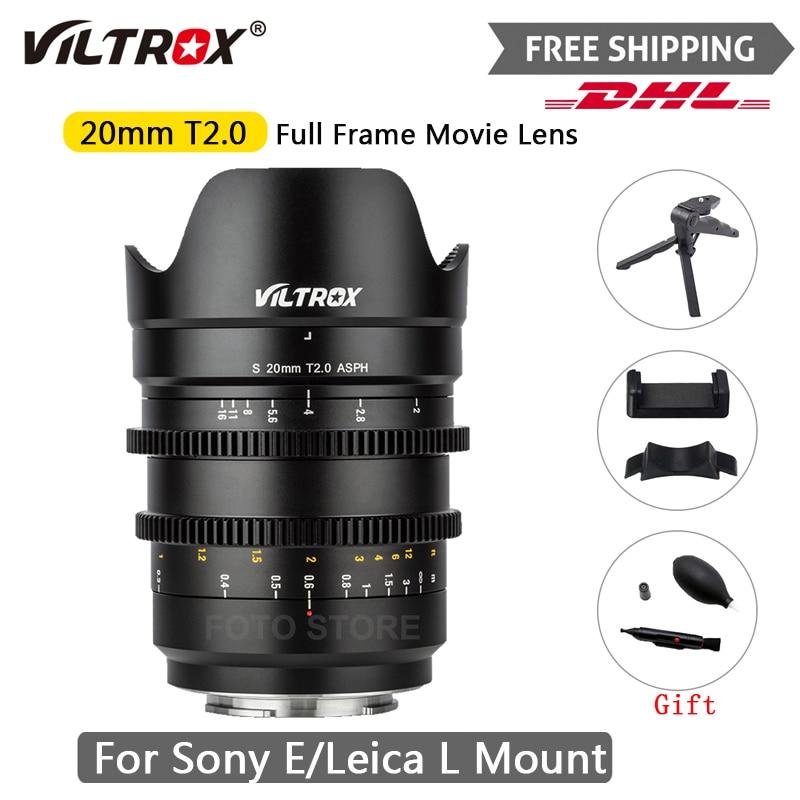 Viltrox 20 مللي متر T2.0 واسعة فيلم عدسة الإطار الكامل Prime سينمائية MF ل لايكا ل سوني كاميرا E-Mount A9ii A7RIV A7III A7SII S1 S1R