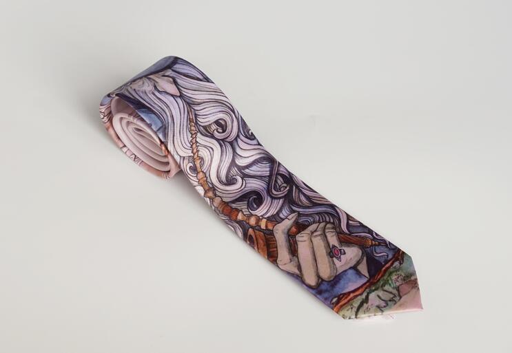 Free shipping fashion new men's male Original Design Print Witch Master School British Creative 7CM Tie Graduation Gift necktie