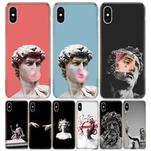 La Mythologie grecque Sculpture En Pierre Pour iPhone 11 5 5s SE 6 6s 7 8 Plus X XS XR Pro Max Housse Coque souple En Silicone TPU