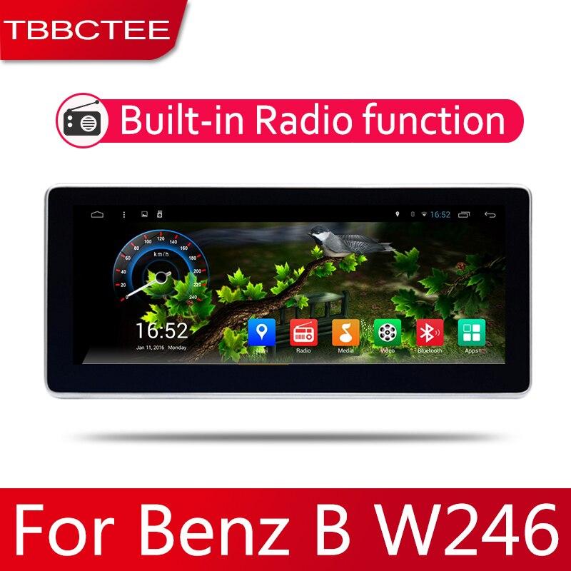 Android 2 Din auto radio Multimedia reproductor de Video auto estéreo GPS mapa para Mercedes Benz B W246 de la CIA de la clase 2012 ~ 2014 Media Navi