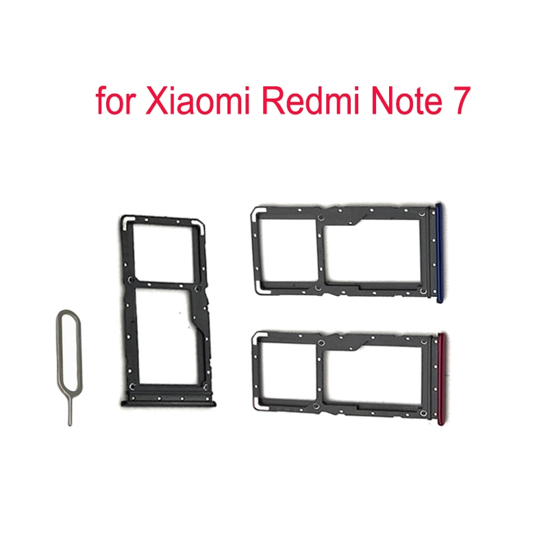 For XIAOMI Redmi Note 7 Phone SIM Card Tray Adapter For Xiaomi Note 7 Original Housing New Micro SD Card Tray Holder Replacement
