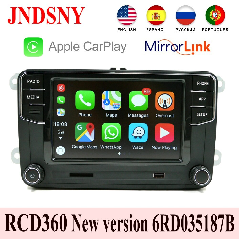 JNDSNY RCD360 Carplay MIB Radio 6RD 035 187B para VW Touran CC Polo Golf 5 6 Jetta MK5 MK6 Tiguan Passat B6 B7