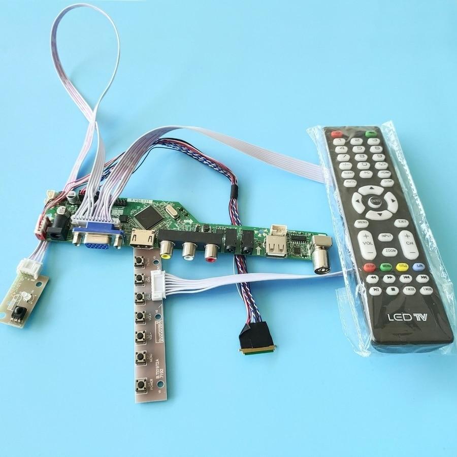 40-Pin شاشة العالمي محرك لوحة تحكم عدة VGA + USB + AV 60Hz رصد WLED صالح HV121WX5/HX121WX1/B121EW09 LVDS 1280*800