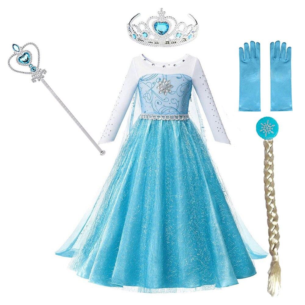 Vestido de princesa de reina de la nieve para niñas, ropa de...