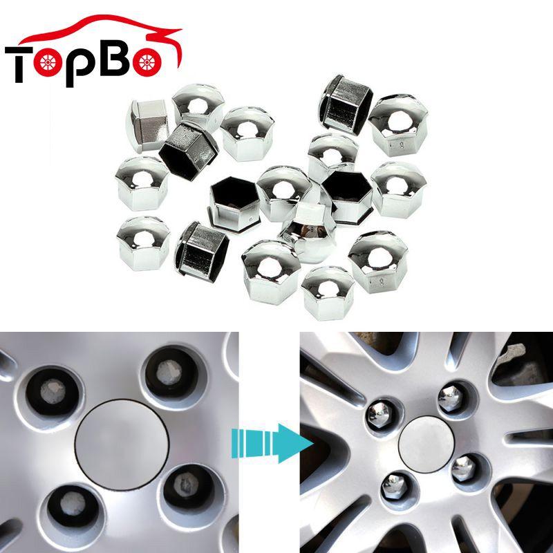 Hot 20Pcs Car Wheel Nut Caps 17 19 21mm Wheel Lug Bolt Center Nut Covers Caps Anti-Rust Hub Screw Protector Car Accessories