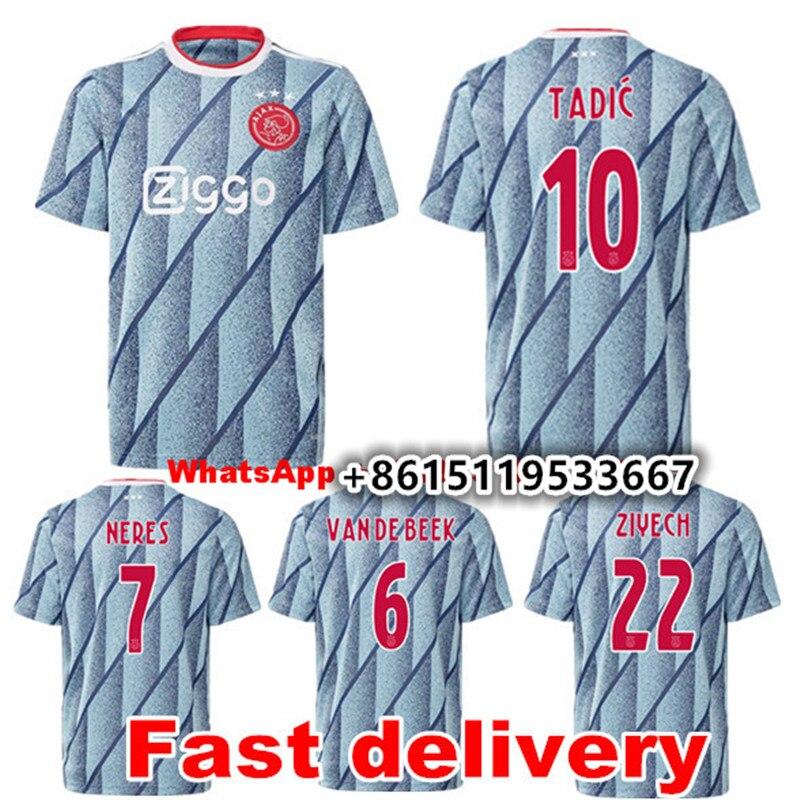 2020 adults AjaxES soccer jersey 20/21 men shirt Top Quality adult AjaxES NERES TADIC DE LIGT VEN DE BEEK T-shirt football shirt