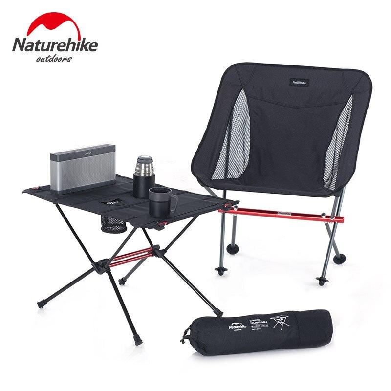Складной стул Naturehike, Сверхлегкий, для улицы, складной, для пляжа, пикника, кемпинга, набор аксессуаров для рыбалки