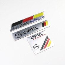 Pegatinas de decoración del coche Logo 3D emblema de aluminio insignia Calcomanía para Opel Astra H G J insignia para corsa Antara Meriva Zafira
