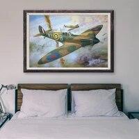 T116     peinture classique retro avec operations de vol davion de guerre  59 affiches en soie personnalisees  decoration murale  cadeau de noel