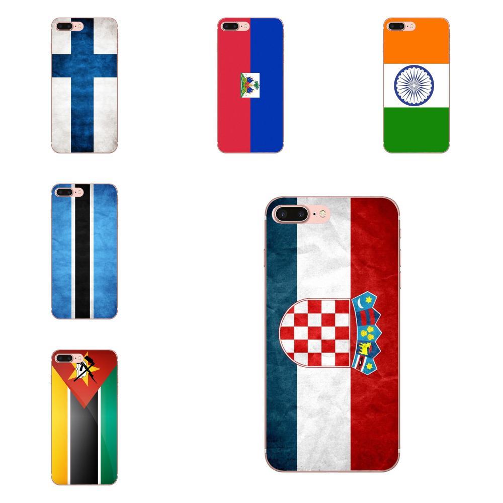 Patrón Ultra delgado para Huawei Mate 9 10 20 P P8 P9 P10 P20 P30 P40 Lite Pro Smart 2017 bandera de Haití otras banderas de países