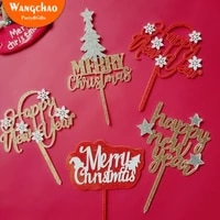 2021 creativity acrylic happy new year cake topper merry christmas decorations for home x mas cake decorating tools supplies