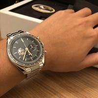 Speedmaster automatic mechanical watch Apollo 13 moon watch fashion waterproof watch men