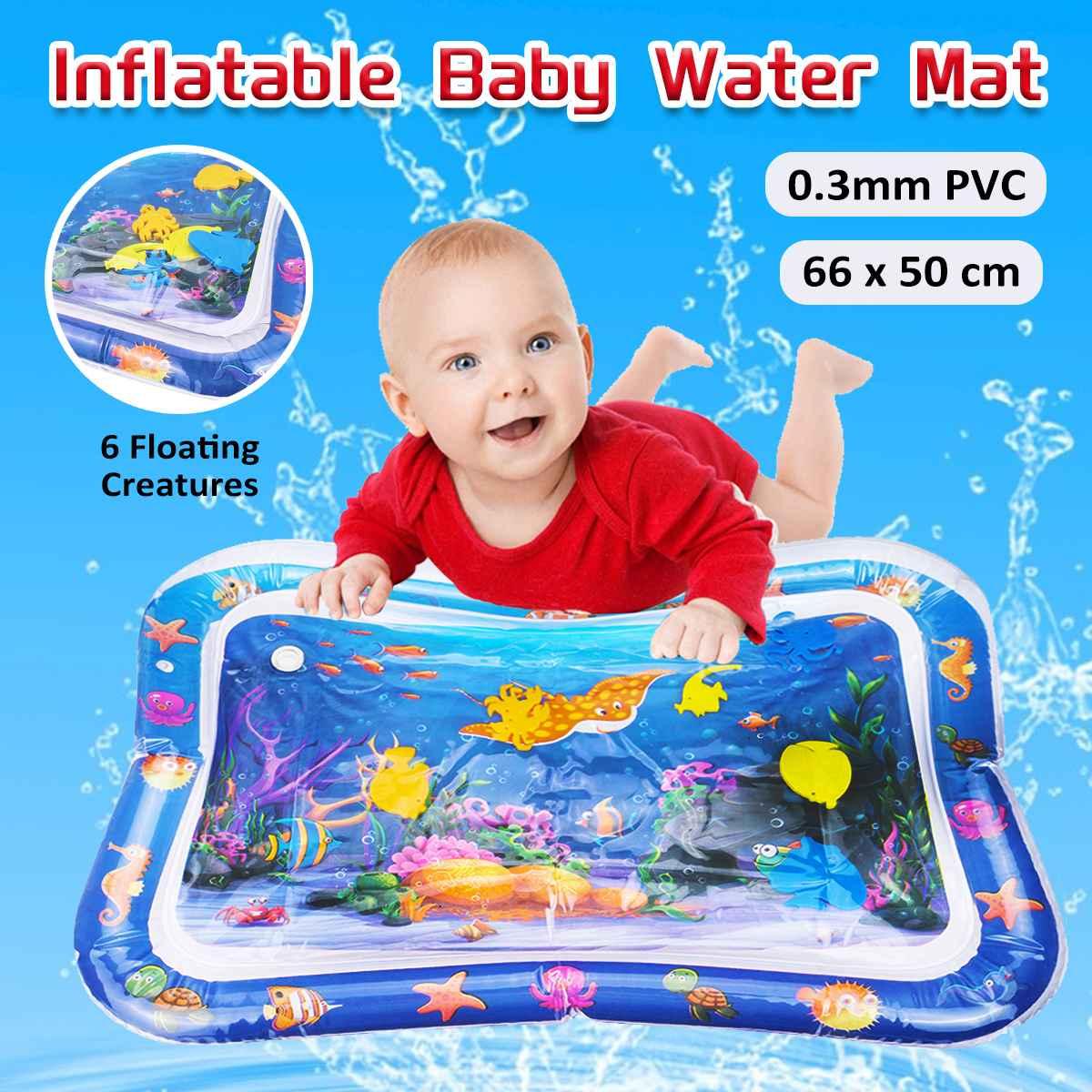 Tapete inflable para juegos de agua para bebés de 66x50cm, tapete para juegos de actividades infantiles, tapete de agua para bebés