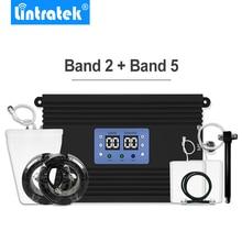 Усилитель сигнала сотового телефона Lintratek Powerful 3G 4G LTE, репитер 850 МГц 1900 МГц, комплект антенн B2 + B5 для большого покрытия *