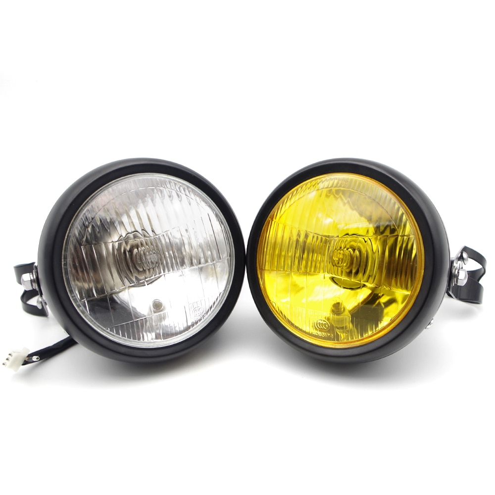 Motorcycle Headlight Moto Halogen Headlamp Bracket For yamaha mt10 yzf r125 xj6 farol yzf 250 xjr 1200 r1 2009 r6 2005 mt 10