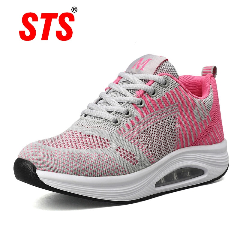 STS Women's Casual Sneakers Breathable Mesh Sport Women Running Shoes For Ladies Light Comfortable O