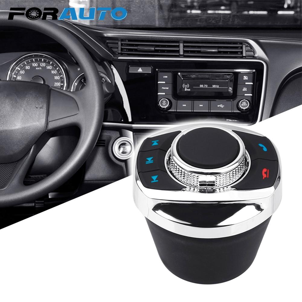FORAUTO Universal 8 teclas forma de taza para el coche Android reproductor de navegador LED luz coche inalámbrico volante Control botón