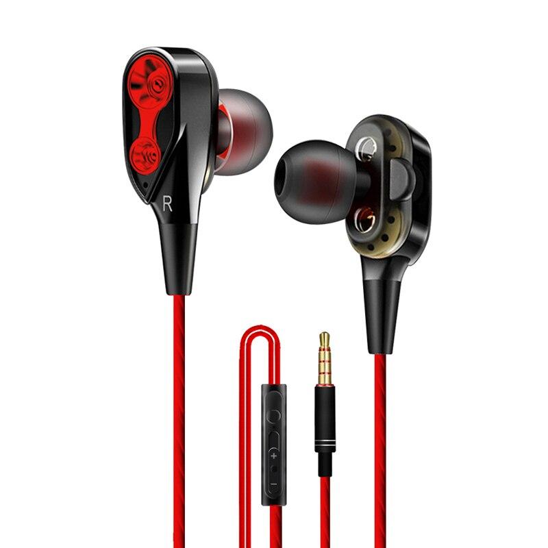 Auriculares, audífonos, auriculares con cable, estéreo, magnéticos, auriculares en la oreja, superbajos, unidad Dual, auriculares para Huawei Samsung
