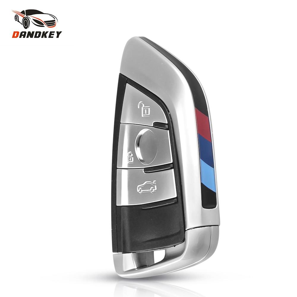 Dandkey estilo de coche de control remoto inteligente tarjeta funda/carcasa de repuesto para BMW X5 X6 F15 X6 F16 G30 serie 7 G11 X1 F48 F39 Fob 3 botón