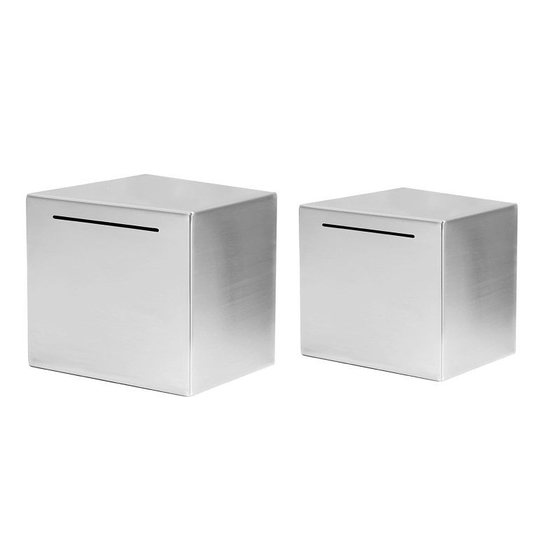 Safe Bank Made of Stainless Steel,Safe Box Money Savings Bank for Kids,Can