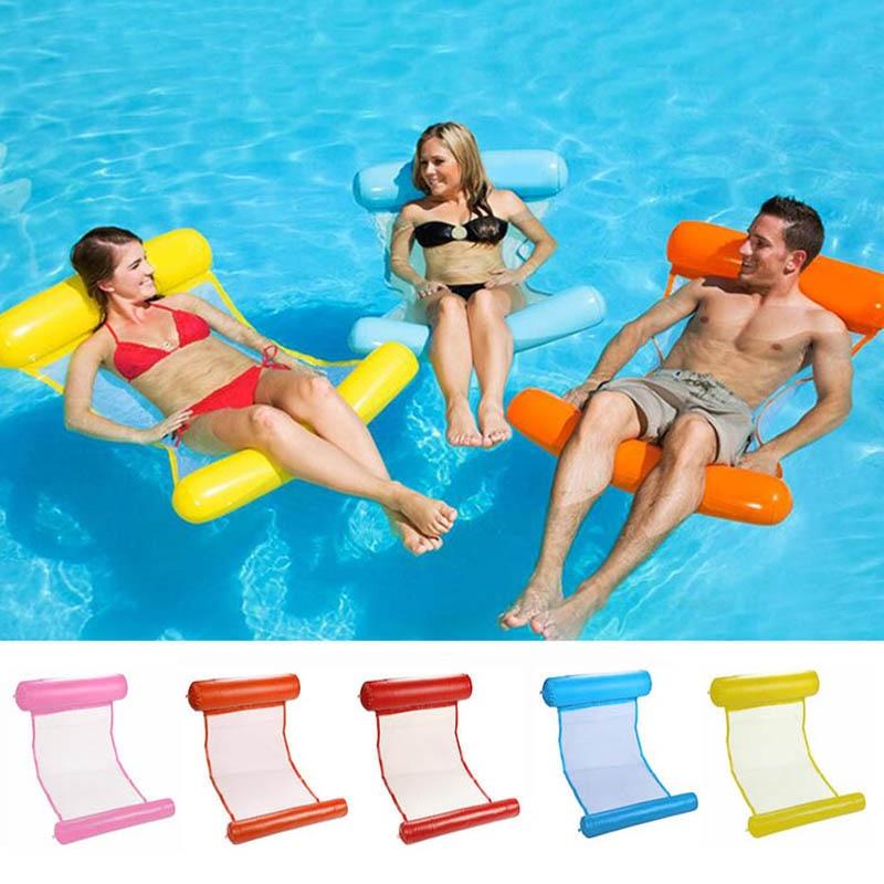 Summer Inflatable Floating Row Pool Air Mattresses Beach Foldable Swimming Pool Sleeping Chair mattress Hammock Water Sports