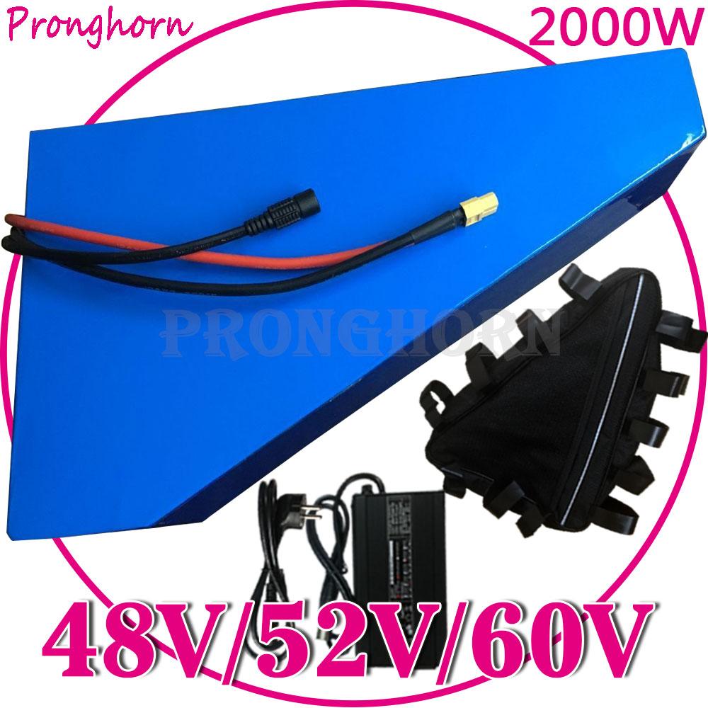 Libre de triciclos eléctricos baterías 48V 52V 60V 13Ah 15Ah 18Ah 20Ah 25Ah E-Batería de scooter para 1000W 1500W 2000W Kit de conversión