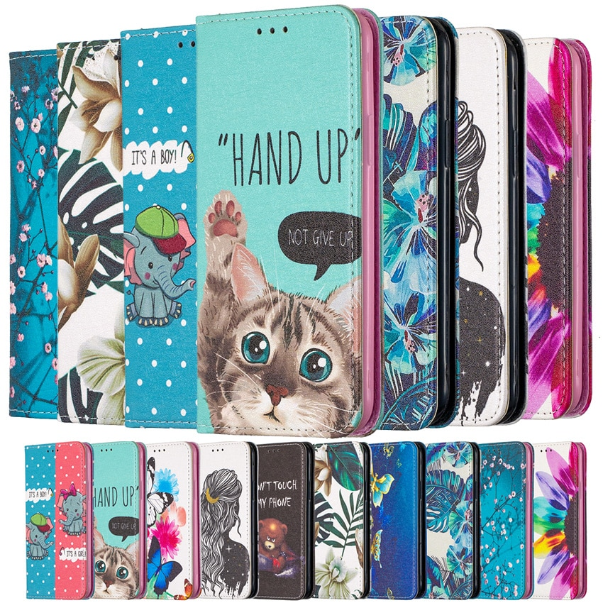 Luxury Magnetic Painting Phone Leather Wallet Case For Samsung Galaxy A11 A21 A21S A31 A41 A51 A71 A