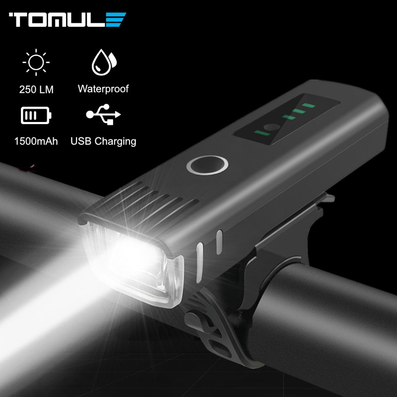 Tomule Bicycle Front Light USB Rechargeable Bike Light MTB Lamp Smart Sensor Headlight LED Cycling Flashlight Taillight For Bike