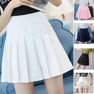 High Waist Tennis Skirt Pleated Skort Short School Dress With Inner Shorts Zip For Teen Team Badminton Scooters Tennis Skirts