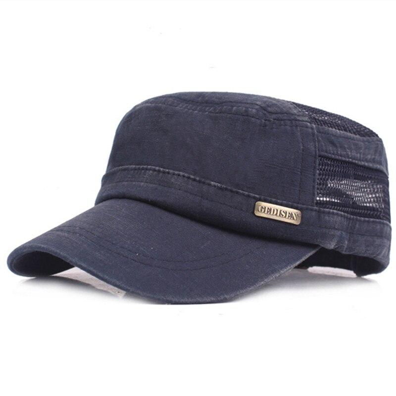 XdanqinX Snapback Cap Men's Flat Cap Mesh Breathable Army Military Hat Adjustable Size Male Bone Fashion Ventilation Sports Caps