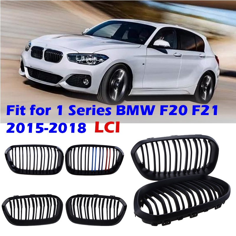 AliExpress - Front Bumper Kidney Grill Double Slat Racing Sport Grille Fit For BMW F20 F21 LCI 120i 1Series 2015 2016 2017,Car Accessories