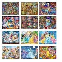 Peinture diamant theme  princesse de dessin anime   broderie complete 5D  perles carrees  points de croix  mosaique  Art mural  decoration de maison