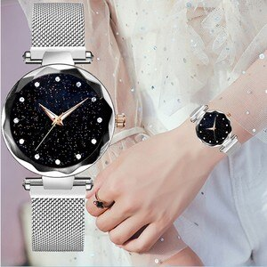 Women watch for women stylish Luxury Starry Sky Watch Magnetic Band Women Quartz Wristwatch Diamond Watches horloges vrouwen W3