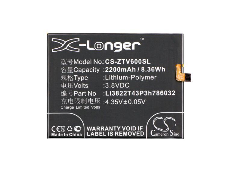 Batería de 2200mah para ZTE Blade V6 X7 Orbic-RC-501L Li3822T43P3h786032 móvil, batería para SmartPhone