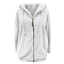 Winter Women's Coat Fashion Casual Stitching Plaid Ladies Clothes Hooded Zipper Ladies Coat Lamb Hai