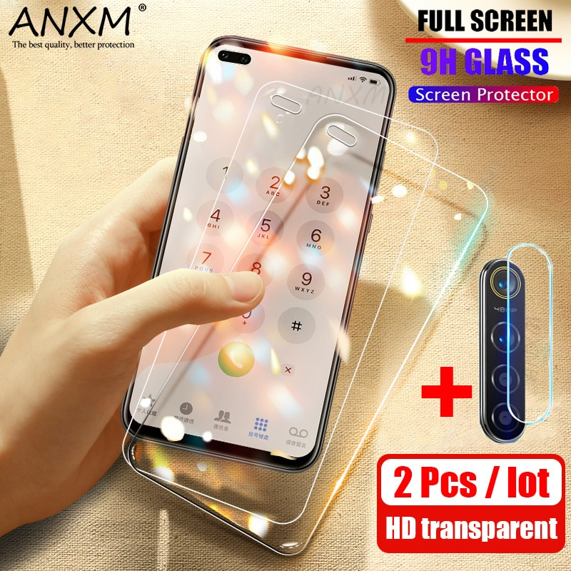 2 uds vidrio templado para OPPO Realme X50 Pro 5G Protector de pantalla 9H Anti Blu-ray lente de vidrio para OPPO Realme X50 Pro Protector