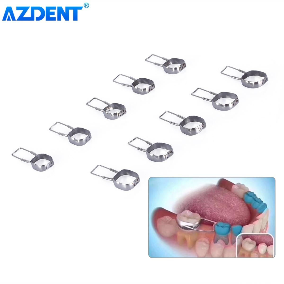 AZDENT שיניים אורתודונטי מייצבת פלטה פער Preformed 2nd טוחנת שטח מתחזק להקות 32 #-41 #