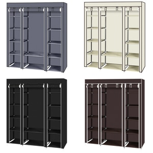 Portable Non-woven Cloth Wardrobe 5-Layer Wardrobe Closet Storage Organizer  Dustproof Cloth Closet Home Furniture with Shelves