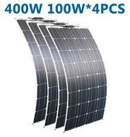 RG Flexible Solar Panel 12V 100W solar 400w plate CELLS Monocrystalline silicon solar panel